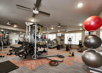 Villaggio fitness center with weights and cardio machines