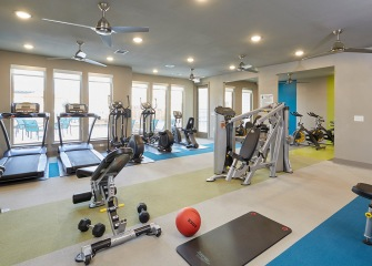 404 Border fitness center with weights and cardio machines