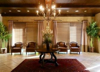 Refugio Place luxury clubhouse with large windows