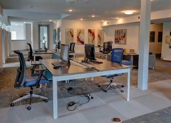 Martha's Vineyard business center with desktop computers