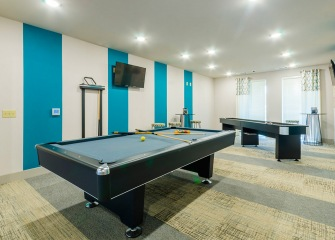 Villas Central Park game room with a pool table
