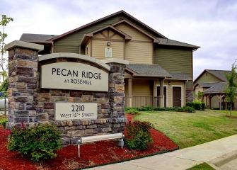 Pecan Ridge entrance sign