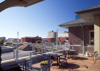 The Depot with a view of Fort Worth