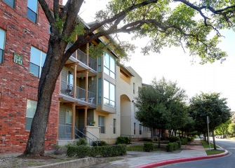 Refugio Place three story apartments with balconies