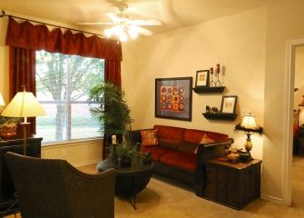 Refugio Place living room with large windows