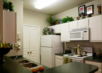 Refugio Place kitchen with ample cabinet space